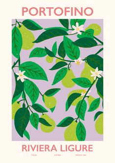 A poster of green pears against a purple background. A simple painting that will bring life to your kitchen walls and can easily be paired with our other motives. Portofino Poster has a built-in border that frames the motif elegantly. Bedroom Wall Collage, Photo Wall Collage, Picture Wall, Cute Poster, Poster Wall, Poster Prints, Wall Art Posters, Poster Collage, Architecture Mode