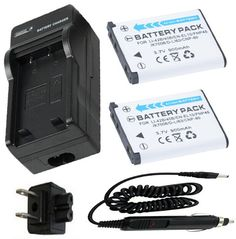 2 Battery + Charger for Fujifilm FinePix J10 J12 J15 J15fd J20 J25 J26 J27 J28 J29 J30 J32 J35 J37 J38 J40 J100 Digital Camera