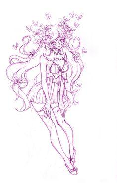#illustration #pencil #sketch #drawing #flower #girl