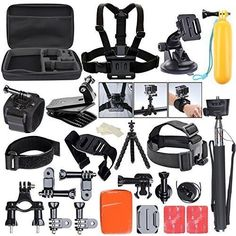 ccbetter All in one Sports Action Camera Accessories for GoPro Hero4 Session Hero1 2 3 3  4 SJ4000 5000 6000 7000 Xiaomi with Carrying Case (Black) >>> Check this awesome product by going to the link at the image.