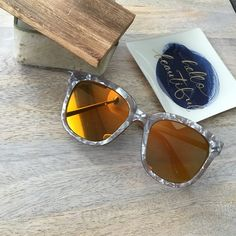 Brown Marbled Sunglasses Brown Marbled fashion glasses. Mirrored lens. No trades.  No paypal. Instagram: @Citrusandlavenderlane April Spirit Accessories Sunglasses