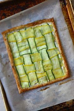 Summer Squash Lattice Ricotta Tart