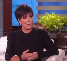 Talking things out: The 61-year-old super manager told Ellen that the Life Of Pablo rapper...