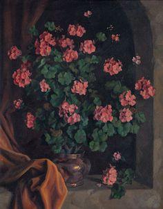Geraniums, 1945 by Gerardo Sacristán Torralba (Spanish, 1907 - 1964)
