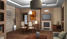 Egy nappali lakberendezése kétféle stílusban - első változat. Flat Screen, Divider, Room, Furniture, Home Decor, Blood Plasma, Bedroom, Decoration Home, Room Decor