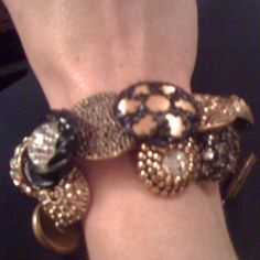 From my collection of vintage button bracelets ..... My favorite!