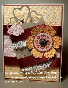 Stamping with Julie Gearinger: CQC173- Three Cards with One Color Challenge :-)