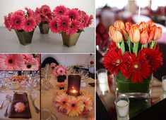 I think these centrepieces are perfect! They are VERY YOU!!!