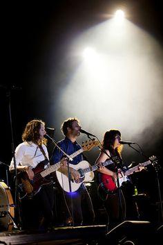 Marie-Pier Arthur, Louis-Jean Cormier and Lisa Leblanc (miss Ariane Moffat on the picture) - FEQ, Plaines d'Abraham, Québec City  - July 7th 2014