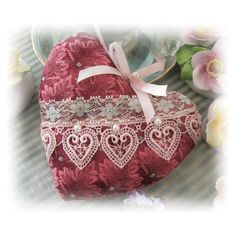 Heart Pillow Door Hanger Heart BURGUNDY Decor by CharlotteStyle - what a difference a little lace makes to a project. Valentines Day Hearts, Valentine Heart, Valentine Crafts, Decor Pillows, Fabric Decor, Owl Pillows, Burlap Pillows, Throw Pillows, Burgundy Decor