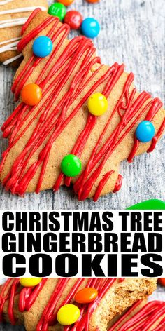 CHRISTMAS TREE COOKIES RECIPE- Easy decorated Christmas cookies, homemade with simple ingredients. These cut out gingerbread cookies are soft but firm and lightly spiced with cinnamon, ginger, cloves… More