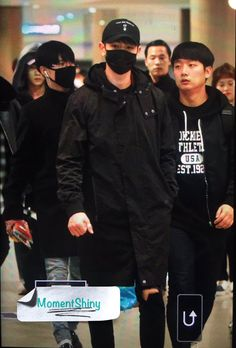 161113 Incheon Airport back from Jakarta #Shinee #Taemin #Minho