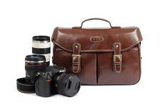 Coffee Vintage Look Britpop DSLR Camera Bag Canon Nikon Sony Shoulder PU Bag Christmas Gift