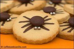 Halloween Spider Cookies (Vanilla Cutout Cookies)