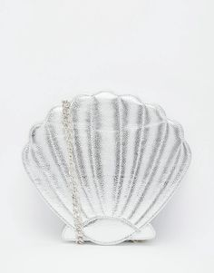 Skinnydip Mermaid Shell Across Body Bag in Silver