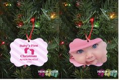 Adorable Baby's First Christmas Ornament. Design For Boy or Girl.  #personalizedchristmasornament  #babysfirstchristmas    https://www.etsy.com/listing/213829371/babys-1st-christmas-ornament-design-for