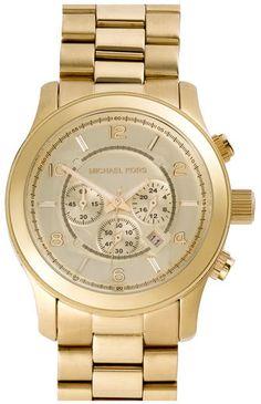 Michael Kors 'Large Runway' Chronograph Bracelet Watch, 45Mm: http://fave.co/2ornS0C