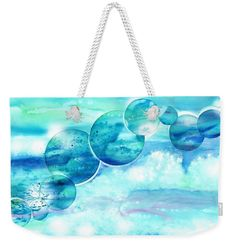 Planet earth save our oceans weekender tote bag. The long rope handles allow you to carry it on your shoulders. With original paintings from Sabina von Arx, I wish you a joyful summertime! Weekender Tote, Tote Bag, Beach Towel Bag, Coastal Bathroom Decor, Save Our Oceans, Colour Images, Basic Colors, Bag Sale, Decoration