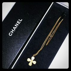 MAJOR REDUCTION  NEXT 3 HOURS Gold. Necklace- clover. Price is based on comps CHANEL Jewelry