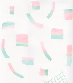 Flannelgraph 002: geometric art print, 5 x 7 print, Upper Tiny art print, abstract art on Etsy, $18.00