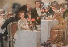 Details: « Henri Gervex, Une soirée au Pré-Catelan, 1909. Huile sur toile, 217 x 318 cm. © Paris, Musée Carnavalet/ Roger-Viollet. »