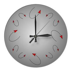 Customizable Red clocks from Zazzle. Choose a pre-existing design for your wall clock or create your own today! Red Wall Clock, Red Walls, Wall Patterns, Devil, Modern Art, Home Decor, Decoration Home, Room Decor, Contemporary Art