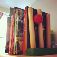 Traditional boys bedroom sports cricket bookends vintage
