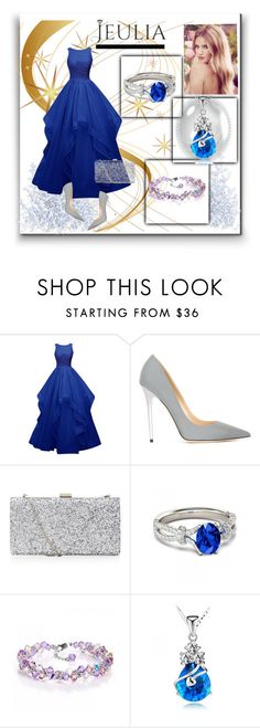 """""""Jeulia 2"""" by aida-1999 ❤ liked on Polyvore featuring Jimmy Choo, Whiteley, women's clothing, women's fashion, women, female, woman, misses, juniors and jewelry"""
