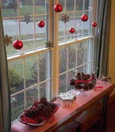 MENTŐÖTLET - kreáció, újrahasznosítás: Karácsonyi ablak