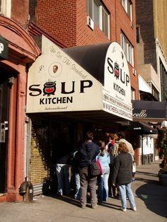 The Soup Nazi, New York City.....the whole thing is just like in Seinfield.