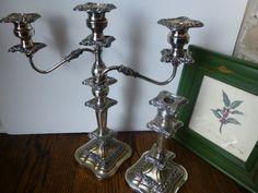 Ornate Silver Plated Candelabras By Goldfeder by LaCheriMaison, $125.00