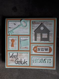 Housewarming Card, New Home Cards, Marianne Design, Viera, Sweet 16, House Warming, Stampin Up, Gallery Wall, New Homes