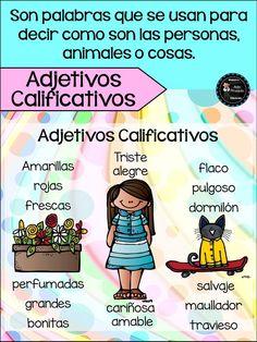 Spanish Lessons For Kids, Spanish Teaching Resources, Spanish Lesson Plans, Teaching Materials, Spanish Basics, Learn Spanish, Dual Language Classroom, Spanish Classroom, Spanish Grammar