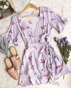 cotton candy la – best buds wrap dress – lilac Source by moeslaughter Cute Summer Outfits, Pretty Outfits, Spring Outfits, Cute Outfits, Summer Dresses, Dress Outfits, Fashion Outfits, Womens Fashion, Trendy Outfits