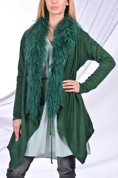 Green Tibetan Mongolian Fur Green Cardigan Look Book Designer Clothing Warm Cosy Knits Styling Ideas Casual Outfit Fashion Trends Street Style Casual Outfits Outfit Ideas Designer Clothing #casualstyle #casualoutfits #streetstyle #streetfashion #streetwear #fashionbloggers #fashiontrends #celebritystyle #outfitideas #outfitgoals #wiwt #lookbook