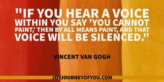 Silence the voice inside of your head.