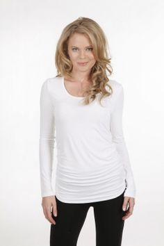 Bamboo Body Long Sleeve Ruched Tee - $49.95 #travelclothes
