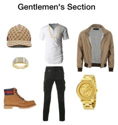 """Swagger"" by quasia-taylor on Polyvore featuring Sophnet., LE3NO, Gucci, Movado, men's fashion and menswear"