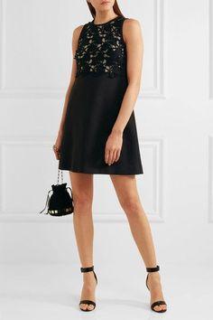 Giambattista Valli - Convertible Guipure Lace-paneled Crepe Dress - Black - IT48