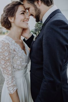 We love the look of sleeved wedding dresses. Whether bell sleeves, lace, or even sheer, sleeves add such a beautiful touch and they're perfect for keeping warm
