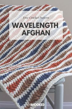 Wavelength crochet afghan Click through for the free pattern BHooked Crochet FreeCrochetPattern Crochet Afghans, Modern Crochet Blanket, Crochet Ripple Afghan, Afghan Crochet Patterns, Baby Blanket Crochet, Crochet Baby, Crochet Blankets, Chevron Afghan, Doilies Crochet