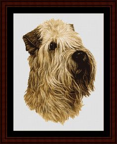 Wheaten - Cross Stitch Collectibles fine art counted cross stitch pattern