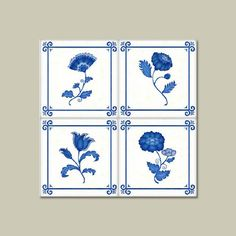 Add color and texture to a white tile backsplash with peel-and-stick decals. The Delft design with raised blue-and-white flowers mimics the look of hand-painted Dutch squares White Tile Backsplash, Delft Tiles, Tile Decals, Stick On Tiles, Mold And Mildew, Tile Art, Chinoiserie, Nifty, Wall Stickers