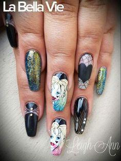 Suicide squad Nails Squad, Hair Beauty, Nails, Finger Nails, Ongles, Nail, Classroom, Cute Hair, Manga