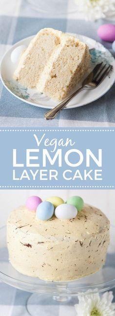 Vegan Easter Lemon Sponge Cake (no bake cake vegan) Brownie Desserts, Oreo Dessert, Coconut Dessert, Mini Desserts, Healthy Vegan Dessert, Cake Vegan, Vegan Dessert Recipes, Vegan Treats, Vegan Lemon Cake