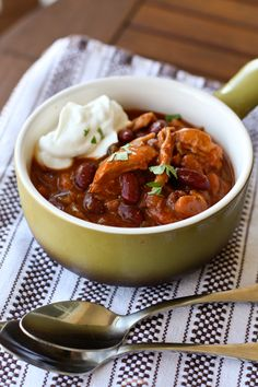 Red Chicken and Two-Bean Chili from @Aggie's Kitchen