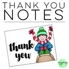 These free holiday thank you notes are my gift to you this holiday season. Simply print on cardstock, cut, and write a simple note on the back. There are 12 thank you note designs from which to choose. Use to write thank you notes to your students, fellow staff members, family, or friends.
