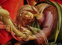 Sandro Botticelli - The Lamentation of Christ, detail of Mary Magdalene and the Feet of Christ, c.1490