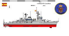 Perfiles navales,Corbeta Cazadora 1982 es una corbeta, quinta unidad de la clase Descubierta de la Armada Española