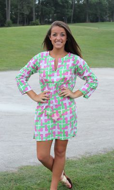 Be Square Green/Pink Tunic